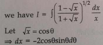 205 Integration 1 minus root x by 1 plus root x whole root dx by x