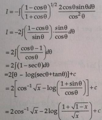 206 Integration 1 minus root x by 1 plus root x whole root dx by x