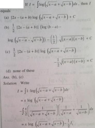 211 Integration log root x minus z plus root x minus b