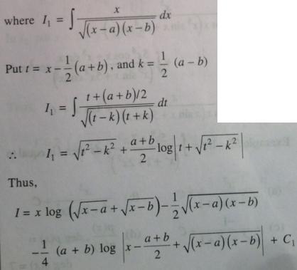 212 Integration log root x minus z plus root x minus b