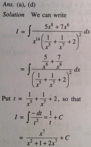 216 Integration 5 x^8 plus 7 x ^6 by quadratic square