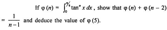 23 0 to pi by 4 reduction formula for tan to the power n