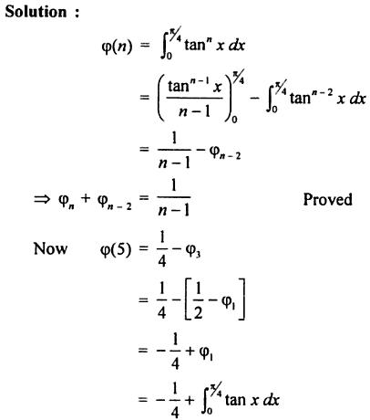 24 0 to pi by 4 reduction formula for tan to the power n