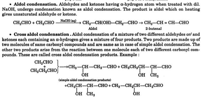 28b Aldol and Cross Aldol condensation