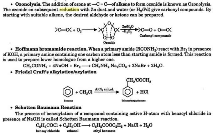 28f Ozonolysis Schotten Baumann Reaction
