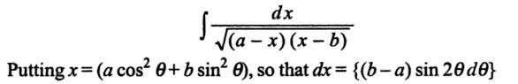 3 Integral dx by root ( (a-x) (x-b) )