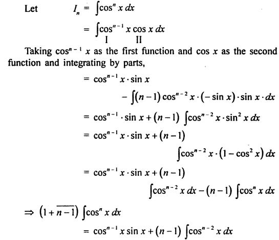3 reduction formula for Cos to the power n