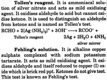 3 Tollens reagent and Fehling's solution