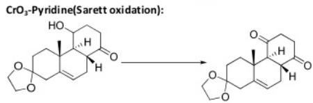30 CrO3 with Pyridine Sarett Oxidation