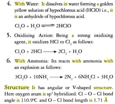 31c Oxides of Chlorine