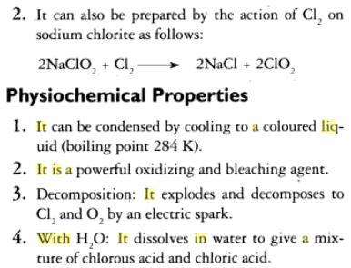 31e Oxides of Chlorine