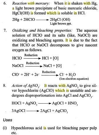 31q Oxides of Chlorine