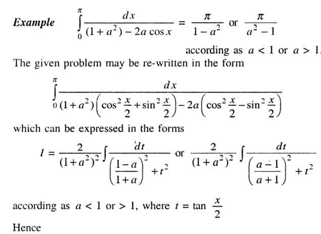 33a Definite Integral 0 to Pi 1 plus a square in denominator