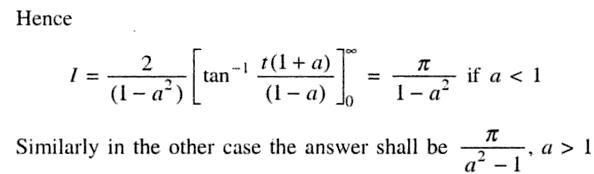 33b Definite Integral 0 to Pi 1 plus a square in denominator