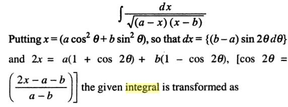 36a Integration root of a minus x into x minus b