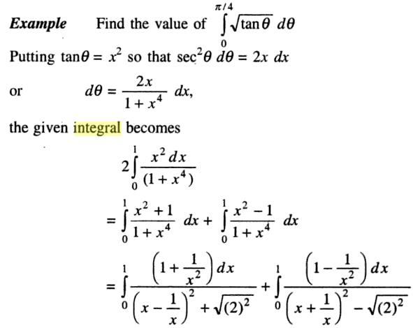 37a Definite integral 0 to pi by 4 root tan x
