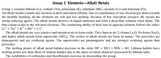 3a Group 1 Elements
