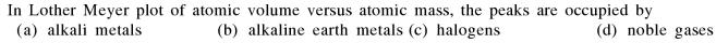 3a Lother Meyer Plot of Atomic Volume vs Atomic mass