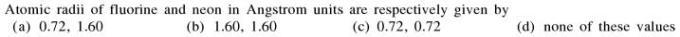 3b Atomic radii of fluorine and neon