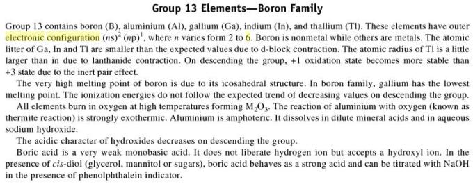 3c Group 13 Boron Family Elements