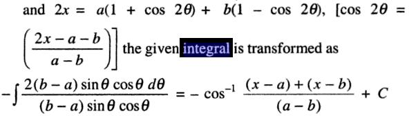 4 Integral dx by root ( (a-x) (x-b) )
