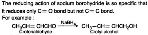4 Selective reduction by NaBH4 double bond not reduced