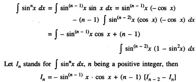 44a Recursive Formula of Sin to the power n Integration