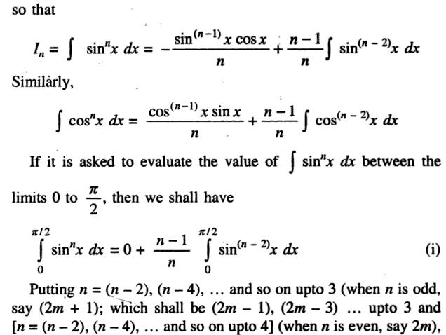 44b Recursive Formula of Sin to the power n Integration