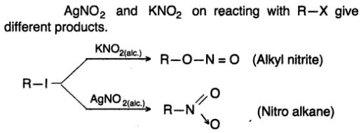 5 AgNO2 and KNO2 react in different ways
