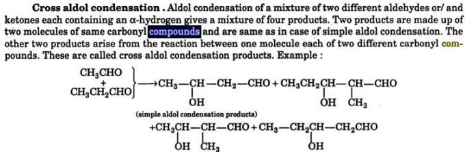 5 Cross Aldol condensation