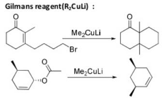 50 Gilmans reagent R2CuLi