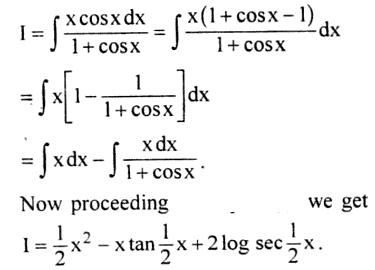 52a Integration of x Cos x by 1 plus Cos x