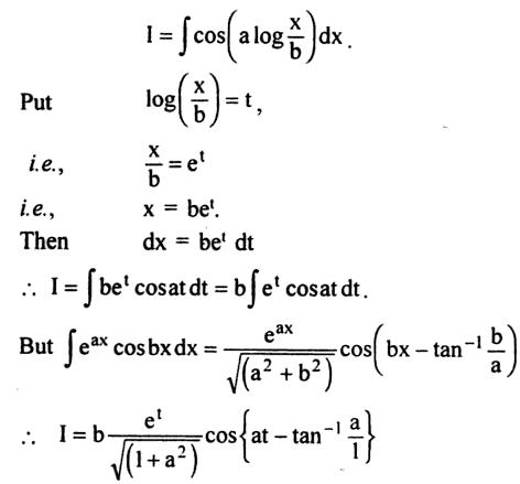 53a Integration of Cos of a log x by b