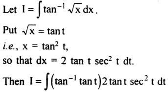 56a Integration of tan inverse root x
