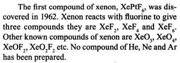 56a Xenon compounds made in 1962 onwards