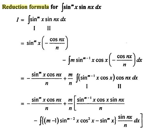 58 Reduction formula for Sin to the power m X sin nx