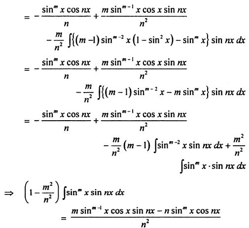 59 Reduction formula for Sin to the power m X sin nx
