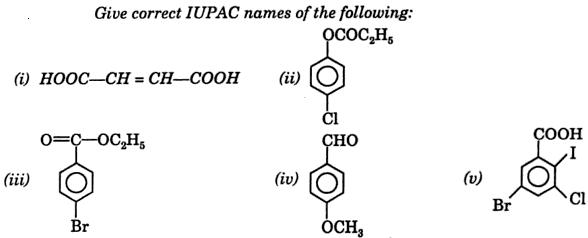 6 IUPAC name of following 1