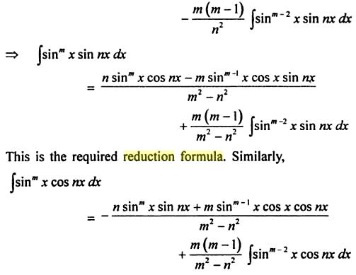 60 Reduction formula for Sin to the power m X sin nx
