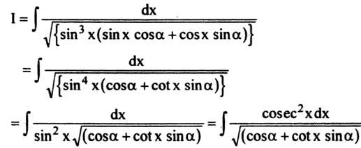 60a Integration of Sin cube x into Sin x cos alpha plus cos x sin alpha root