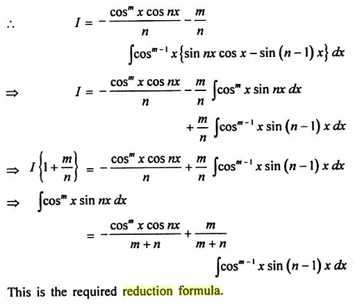 62 Reduction formula Cos to the power m Sin nx