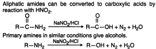 8 amines to carboxylic acid by HNO2