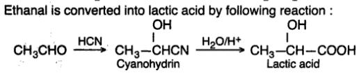 9 Ethanal to Lactic acid by CN