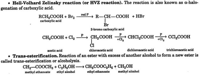 9 Hell Volhard Zelinsky reaction trans esterification