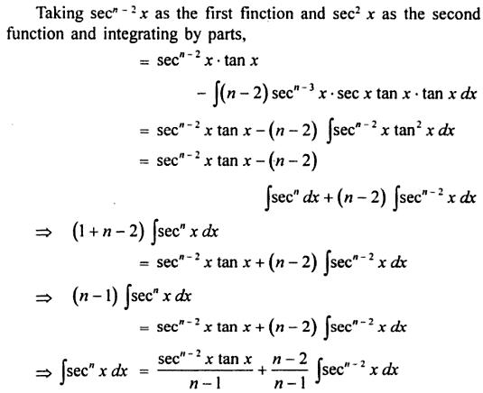 9 reduction formula for Sec to the power n