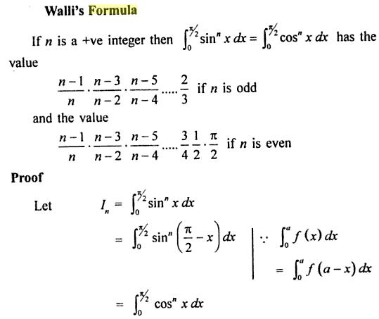 91 Wallis formula for 0 to pi by 2 Sin the power n