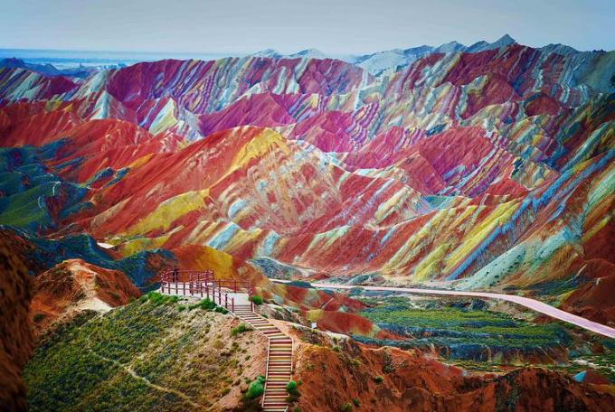 Coloured Mountain in China