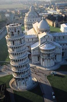Leaning Tower of Pisa seen from top