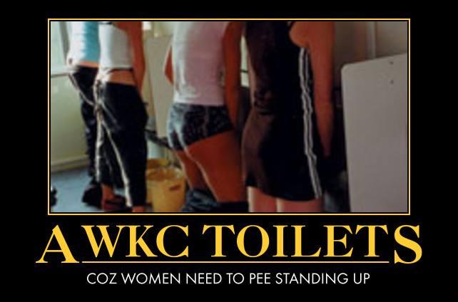 Women need to pee standingup