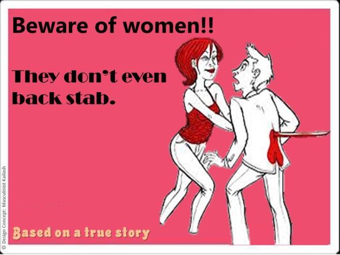 woman stabbing